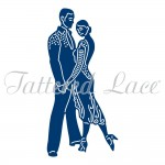 Wykrojnik Tattered Lace - Salsa Couple (Para tancerzy Salsy)
