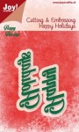 Wykrojnik Joy!Crafts napis Happy Holidays 6002/2028