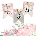 Papierowy Banerek Mrs & Mr