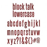 Wykrojnik Bigz XL - Alphabet Block Talk Lowercase