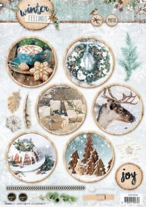 Arkusz die cut Winter Feelings nr 595