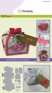 Wykrojnik Craft Emotions - Pudełko Chocolate Box Butterfly