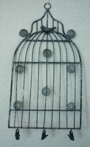 Small  Birdcage Memo Holder
