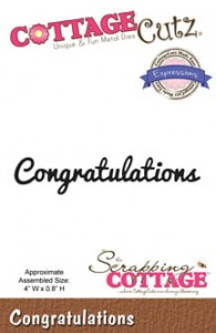Wykrojnik CottageCutz -Congratulations