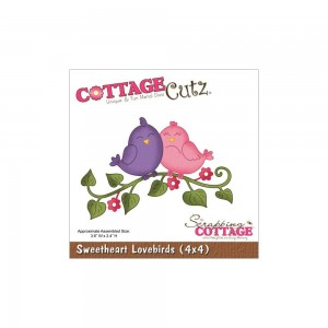 Wykrojnik Cottage Cutz - Sweetheart Lovebirds