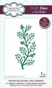 Wykrojnik Creative Expressions - Holly Branch