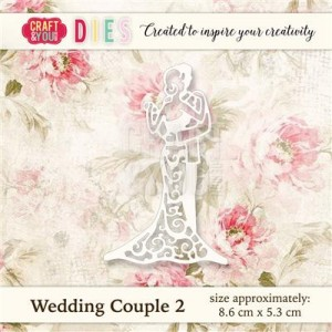 Wykrojnik Craft&You Design CW019 - Wedding Couple (Młoda para)