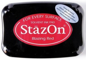 Tusz StazOn - Blazing Red