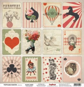 Papier Vintage Circus, Magic Deck - 30x30cm