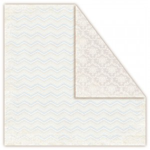 Papier Scrapbooking Frosty Morning - Zigzag