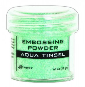 Puder do embossingu Ranger Aqua Tinsel EPJ60413