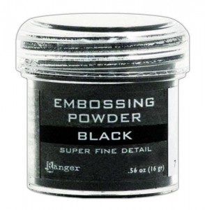 Puder do embossingu Ranger Black Super Fine EPJ37392