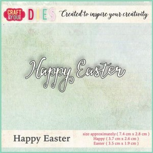 Wykrojnik Craft&You Design CW006 - Happy Easter - napis