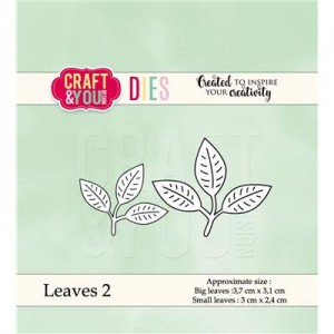 Wykrojnik Listki - Craft&You Design CW039 Leaves 2