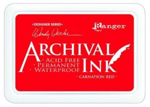 Tusz Archival Ink -  Carnation Red