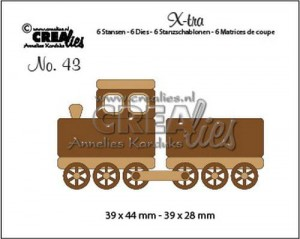 Wykrojnik CREAlies - Train + wagon  CLXtra43 - Pociąg + wagon