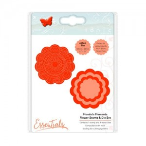 Wykrojnik Mandala Moments - Flower Stamp & Die Set 1550E