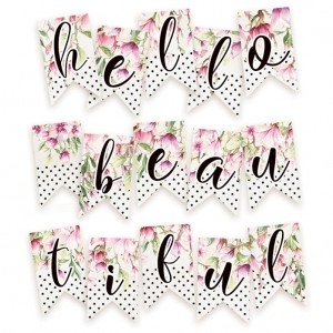 Papierowy banerek - die cut Hello Beautiful