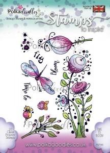 Stempel Posy Doodles - Time to Bloom