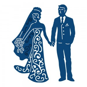 Wykrojnik Tattered Lace Bride & Groom