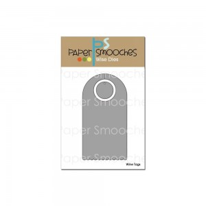 Wykrojnik Paper Smooches - Wine Tag