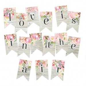 Papierowy banerek - die cut Love in Bloom
